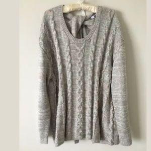 Open-back twist teddy bear Oversized SOFT sweater